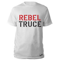 The Clash Wht Rebel Truce T-shirt