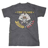The Clash Straight To Hell Charcoal T-shirt