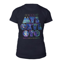 Coldplay Mylo Xyloto Grafitti Women's Tee