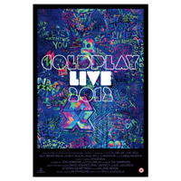 Coldplay 2012 Live Lithographic Poster