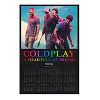Pre-Order Coldplay 2016 Calendar Poster*