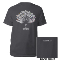 Coldplay Peacock T-shirt