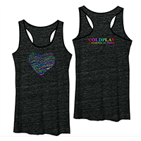 Coldplay Lyric Heart Tank Top