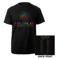 Coldplay A Head Full Of Dreams North American Tour T-Shirt*