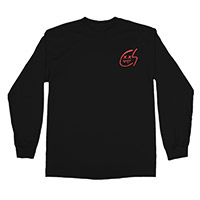RED X LOGO LONG SLEEVE TEE