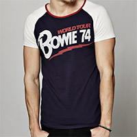 David Bowie World Tour '74 Men's Raglan