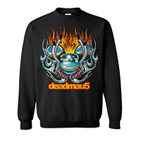 deadmau5 Flames Crewneck Sweatshirt