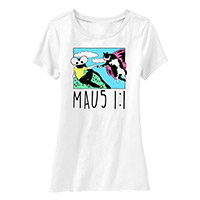 deadmau5 Mau5 1:1 Junior Scoop Neck Tee