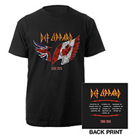 Def Leppard Canadian Tour 2015 Flag Tee