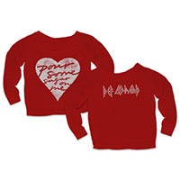 Pour Some Sugar On Me Red Ladies Crewneck Sweat