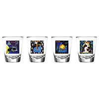 Album Art Four Piece Shot Glass Set