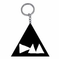 DM Logo Metal Black Keychain