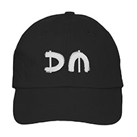 Silver DM/Red Logo Black Dad Hat