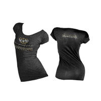 Ladies Cap-Sleeve Scoop Neck