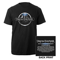 Limited Edition Dream Theater 30th Anniversary Tour Badge Tee