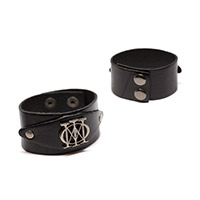 Majesty Badge Leather Wristband