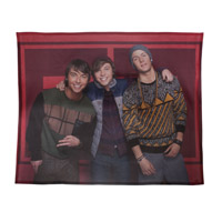 Emblem3 Band Photo Red Blanket