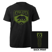 Emblem3 Skateboard Bear 2014 US Tour Tee