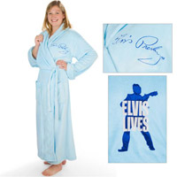 Elvis Lives Blue Robe