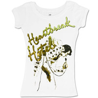 EP Elvis HeartBreak Hotel Ladies White T-shirt