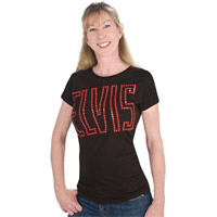 EP Elvis 68 Lights Ladies Black T-shirt