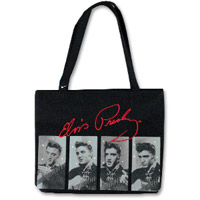 Elvis Presley Black Rhinestone Tote