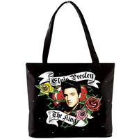 Elvis Tattoo Roses Vinyl Tote Bag