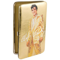 Elvis Gold Lame Clutch Wallet