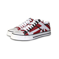 "Eddie Van Halen ""Red/Black/White Striped"" Low Top Sneakers"