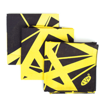 """Classic Stripes"" Black/Yellow Bandana"