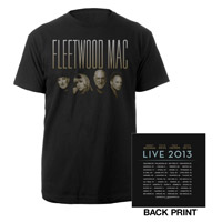 Official Fleetwood Mac Live 2013 North American Tour Tee