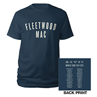 Fleetwood Mac On With The Show Tour Logo Tee