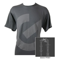 G Logo/Itinerary Charcoal T-shirt