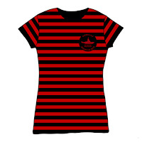 Gorilaz Sub Division Black &amp; Red Stripe Babydoll