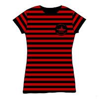 Gorilaz Sub Division Black & Red Stripe Babydoll