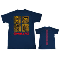 Gorillaz Band Artwork Plastic Beach World Tour T-Shirt