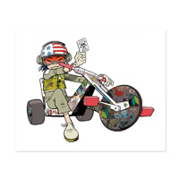 Exclusive - Noodle On Trike Lithograph