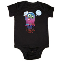 Gorillaz Jelly Fish Black Babygrow