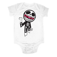 Gorillaz Bones White Babygrow