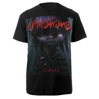 New - Gorillaz El Manana Black T-Shirt