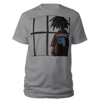 New - Gorillaz Feel Good Inc Grey T-Shirt