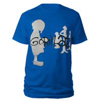 New - Gorillaz Silhouette Blue T-Shirt