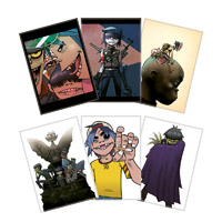 Gorillaz Greeting Cards