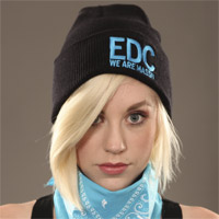 EDC We Are Massiv Beanie Black