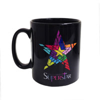 Jesus Christ Superstar Logo Black Mug