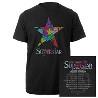 Jesus Christ Superstar Logo Itinerary Black T-shirt