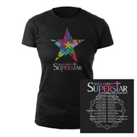 Jesus Christ Superstar Logo Itinerary Black Babydoll