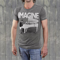 "John Lennon ""Imagine Piano"" Mens Crew Shirt"