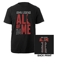 John Legend All Of Me 2014 Tour Tee