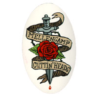 Cuttin' Heads Rose Tattoo Logo Sticker